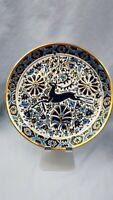 Vtg Keramik Nassos Rodos Hellas Plate Greek Art Handmade Pottery Leaping Deer