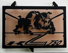 cache grille radiateur Kawasaki Z750 07>12 Bulldog noir mat + grill orange