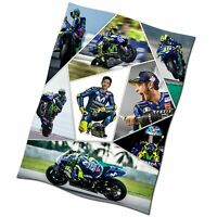 Valentino Rossi Collage Flag Banner NEW Textile Fabric Poster MotoGP Yamaha