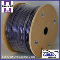 Analysis Plus BULK Clear Oval Speaker Cable 2/14 Gauge - Length 75ft