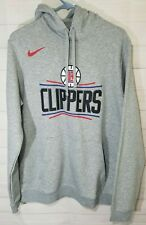 Nike LA Clippers NBA Gray Practice Hoodie Sweater Men's Size Large