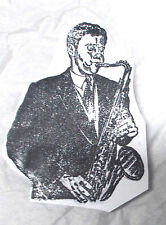 Rare Bill Clinton playing Saxophone Rubber stamp Unmounted Election President