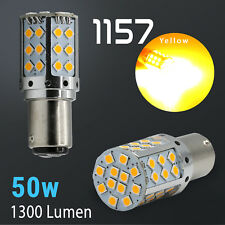 2018 1157 High Power Amber Yellow SMD LED Front Turn Signal Light Bulbs Lamp
