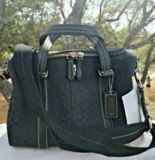 Coach Black Signature C Train Case Travel Cosmetic Bag Toiletry Luggage #77118