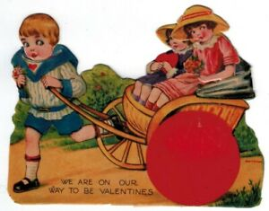 Vintage Valentine WE ARE ON OUR WAY TO BE VALENTINES (Germany)