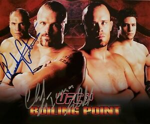Chuck Liddell / Randy Couture Autographed Signed 8x10 Photo ( UFC ) REPRINT