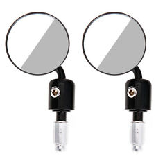 "1 Pair Motorcycle Round 7/8"" Handle Bar End Rear View Side Mirrors"