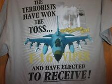 Fighter Plane F16 Viper 911 Terrorist attack tan M t shirt