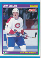 91/92 SCORE...JOHN LeCLAIR...ROOKIE...# 343...CANADIENS...FREE COMBINED SHIPPING