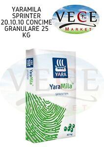 YaraMila SPRINTER 20.10.10 concime granulare 25 kg
