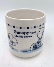 Vintage SNOOPY CHARLIE BROWN PEANUTS Valentines Days RARE Mug Typo/Misspelling