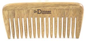 Afro Comb Walnut Wood 13cm - Dr.Dittmar Germany - Wooden Comb Handmade Polished