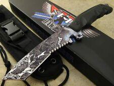 Mykel Hawke Peregrine Fixed Blade Knife Full Tang camo AUS-8 Blade
