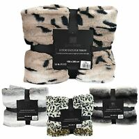 Luxury Super Soft Blanket Throw Faux Fur Sofa Bed Flannel Fleece 150 x 200cm