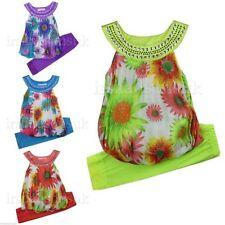 T-shirts, hauts et chemises verte à motif Floral pour fille de 2 à 16 ans