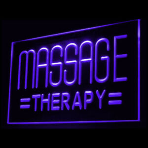 160043 Massage Therapy Body Relieve Display LED Light Neon Sign