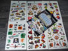 Tattoo Set über 60 Stück AUTO, ZUG Kinder Einmal Tätowierung Wasserfest + B018