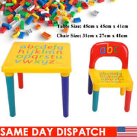 Toddler Baby Play Table & Chairs Set Children Activity Study Desk Furniture Gift