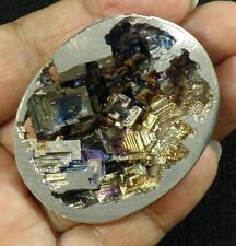 Lab Grown Bismuth Geode Specimen 70.4g 5.4 x 4.3 x 1.5cm Purple Pink Blue Gold