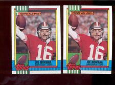 1990 Topps JOE MONTANA San Francisco 49ers Card Lot both Disclaimer Versions