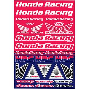 NEW  Factory Effex HONDA  Universal Stickers Decal Sticker Sheet CR CRF XR