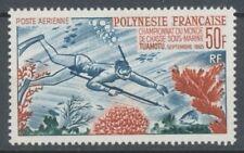 TIMBRE COLONIE POLYNESIE PA N°14 50f Chasse ss Marine. Neuf * TB. P4800