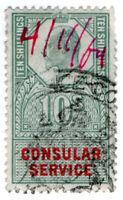(I.B) Edward VII Revenue : Consular Service 10/- (Cairo)