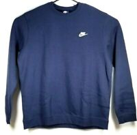 Vintage 1990s NWT Medium Nike Sweatshirt Blue Crew Neck Mens Size XL