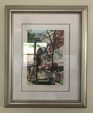 """Quebec City Scene """"a Rendez Vous"""" - Lithograph - Signed - Silver Frame"""