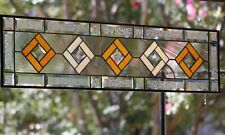 """Beveled Stained Glass Panel ≈40 1/4"""" x 10 3/8"""" -Transom ,Sidelight"""