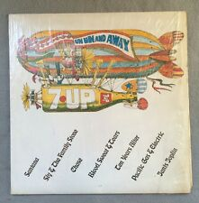 Rare Early 7UP Soda RALLY CAPS Promotional Record Canada Peter Max Style Art