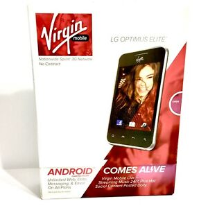 SmartPhone LG Optimus Elite  Android - 4GB - Silver (Virgin Mobile) New Sealed