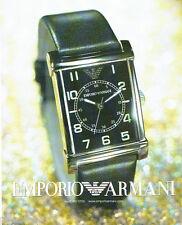 PUBLICITE ADVERTISING 026  2002  Emporio Armani  collection montre ARO 209