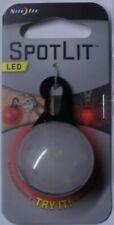 Nite Ize Spotlit Red LED Black Gate Carabiner MSL-03-10