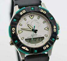 I373 Vintage Casio Blue Marlin Quartz Analog Digital Watch AD-737 MOD.741 20.4