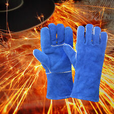 XL Welding Gloves Leather Woodburner Gloves High Temperature Protect Welder Hand