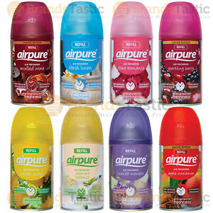 12 X AIRPURE AUTOMATIC SPRAY REFILLS HOME OFFICE AIR FRESHENER 250ML