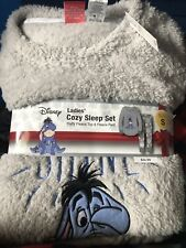 NWT Disney Eeyore Ladies Cozy Fleece Sleep Set Small