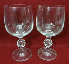 "IMPORT ASSOCIATES crystal CLAUDIA pattern Wine Goblet - 5-3/4"" - Set of Two (2)"