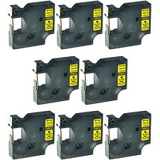 """8PK 45018 Black on Yellow Label Tape Cassette For Dymo D1 Labelmanager 260P 1/2"""""""