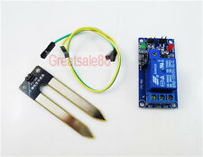 12V Soil Humidity Sensor Controller Relay Automatic Watering Module Max 10A