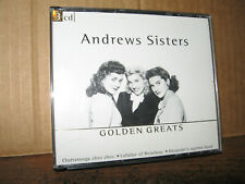 THE ANDREWS SISTERS 3 CD SET GOLDEN GREATS BING CROSBY DANNY KAYE