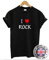 I Love Heart ROCK T-Shirt Mens Womens