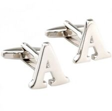 Quality Cufflinks Letter A Cuff links silver Colour Letters Name French Shirt