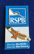 More details for rspb-red kite (green wing tips*) on original vertical backing card **free post**