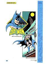 Batman Dc Production Studio Copy Character Art Model Sheet Guide Page