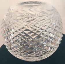 "WATERFORD GLANDORE Crystal ROSE BOWL Vase SIGNED 5 3/4"""