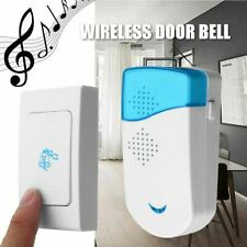 Wireless Doorbells Battery Operated Self-adhesive Rings Transmitter