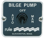 Rule 45 Panel Switch 3 Way auto-off-manual 12/24/32V for Bilge Water Pump Boat photo