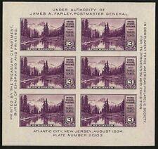 1934 APS imperf Souvenir Sheet Sc 750 MNH  CV $37.50